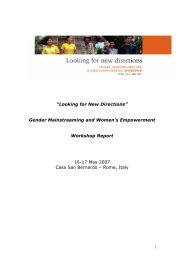 Gender Mainstreaming and Women's Empowerment Workshop - IFAD