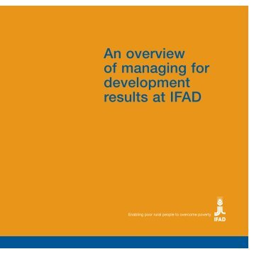 An overview of managing for development results at IFAD