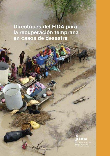 Directrices del FIDA para la recuperación temprana en casos ... - IFAD