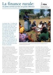 La finance rurale: - IFAD
