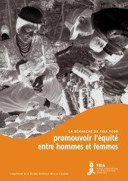 promouvoir l'équité entre hommes et femmes - IFAD