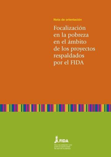 Focalización en la pobreza en el ámbito de los proyectos ... - IFAD