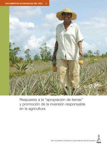 """Respuesta a la """"apropiación de tierras"""" y promoción de la ... - IFAD"""