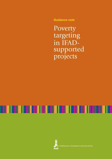 Poverty targeting in IFAD- supported projects