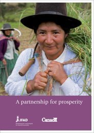 A partnership for prosperity: Canada and IFAD