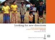 Looking for new directions - IFAD
