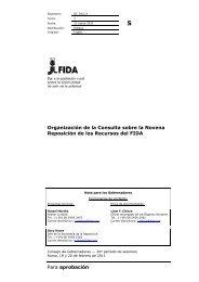 Para aprobación Organización de la Consulta sobre la ... - IFAD
