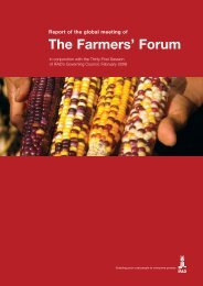 Report of the 2008 global meeting - IFAD