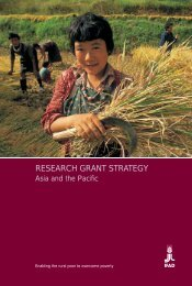 Research grant strategy - IFAD