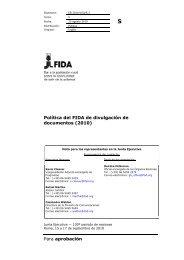 Para aprobación Política del FIDA de divulgación de ... - IFAD