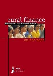 rural finance - IFAD