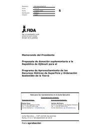 Para aprobación Memorando del Presidente Propuesta de ... - IFAD