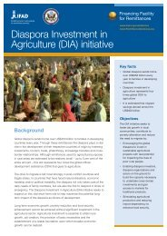 Diaspora Investment in Agriculture (DIA) initiative - IFAD