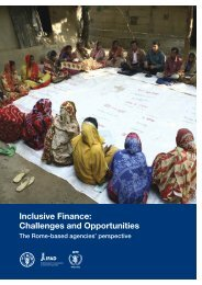 Inclusive Finance: Challenges and Opportunities - IFAD