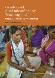 Gender and rural microfinance: Reaching and empowering ... - IFAD