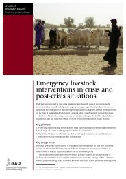 Emergency livestock interventions in crisis and post-crisis ... - IFAD