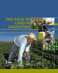 THE ISSUE OF LAND IN ARGENTINA - IFAD