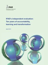 Ten years of accountability, learning and transformation - IFAD