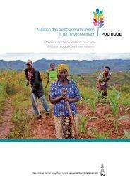 Gestion des ressources naturelles et de l'environnement - IFAD