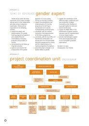 gender expert project coordination unit ORGANIGRAM - IFAD