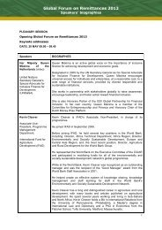 Global Forum on Remittances 2013 - IFAD