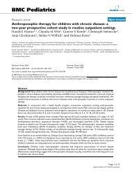 Anthroposophic therapy for children with chronic disease: a two-year ...