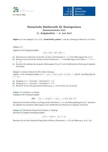 Numerische Mathematik für Bauingenieure - IfAM