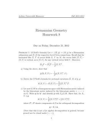Homework 8 - IfAM - Leibniz Universität Hannover