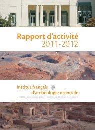 Rapport d'activité - Ifao
