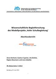 Wissenschaftliche Begleitforschung des Modellprojekts 'Hofer ... - ifb