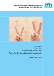 Eltern beurteilen das Bayerische Landeserziehungsgeld - ifb - Bayern