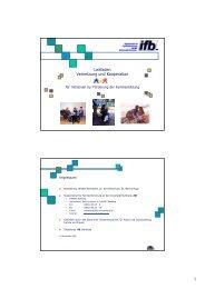 Leitfaden Vernetzung und Kooperation für Initiativen zur ... - ifb