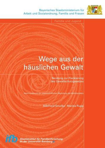 Wege aus der häuslichen Gewalt - ifb - Bayern