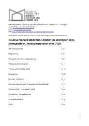 Oktober/Dezember 2013 (pdf) - Deutsche Kinemathek