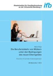 Broschüre mit zentralen Studienergebnissen - ifb - Bayern