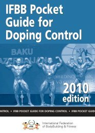 IFBB Pocket Guide for Doping Control