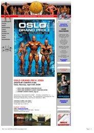 OSLO GRAND PRIX 2009 - IFBB
