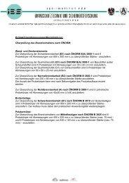 Überprüfung des Brandverhaltens nach ÖNORM - IBS