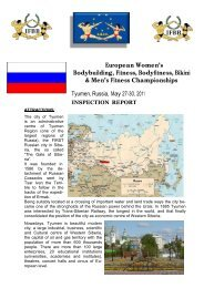 European Men's and Mixed Pair Bodybuilding Championships - IFBB