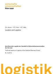 Location and Logistics - an der Hochschule für Technik und ...