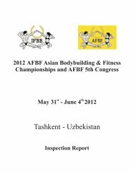 Tashkent - Uzbekistan - IFBB