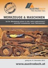 WERKZEUGE & MASCHINEN - AustroDach
