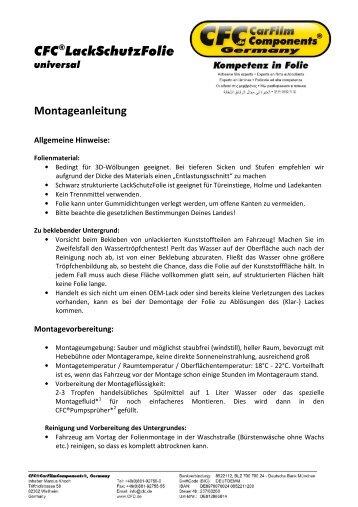 CFC®LackSchutzFolie - CFC CarFilmComponents