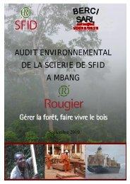 audit environnemental de la scierie de sfid a mbang - IFC