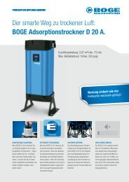 BOGE Adsorptionstrockner D 20 A. Wartung ... - Boge Kompressoren