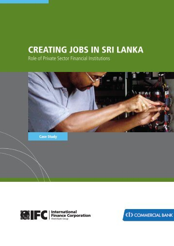 IFC Creating Jobs in Sri Lanka