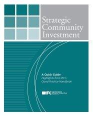 Strategic Community Investment - IFC