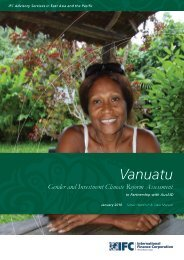 Vanuatu Gender and Investment Climate Reform Assessment - IFC