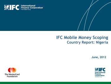 Read Nigeria Mobile Money Scoping report - IFC