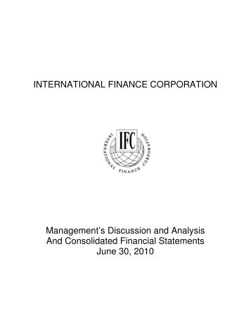 Financial Statements for FY10 - IFC